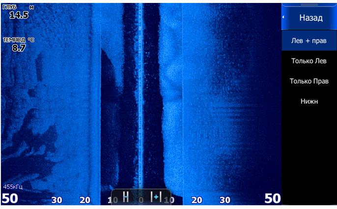 Еще одна очень плотная стая рыбы - скриншот с экрана Lowrance HDS-7 Gen2 Touch