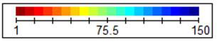 Цветовая линейка с соответствием  цвета цифре плотности дна