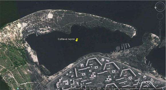 Залив в Киеве на Оболони «Собачье гирло» - Google