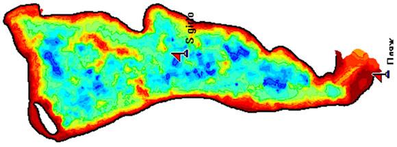 Растровая карта для карплоттеров Lowrance