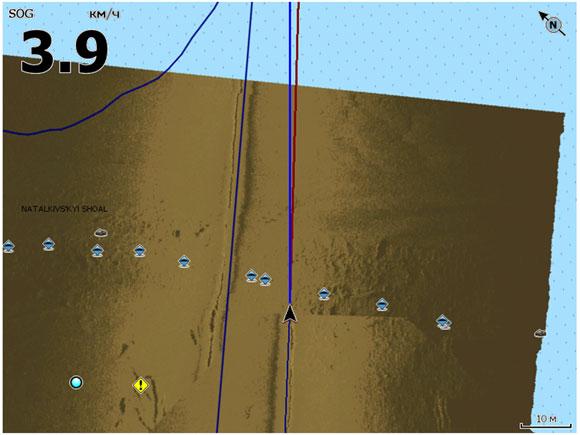 Попутно ставим точки, отбивая соответствующий рельеф. И преобразуем запись в структурную карту.