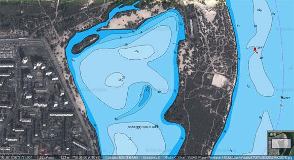 Векторная карта для Lowrance