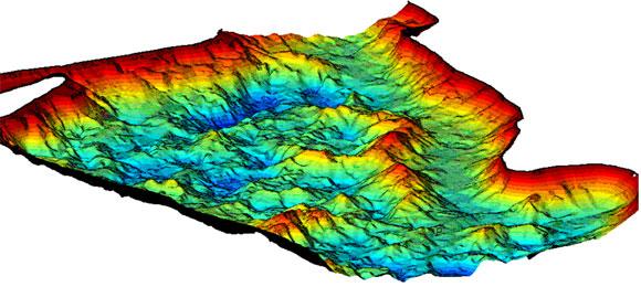 Векторная карта может отображать 3Д под водой