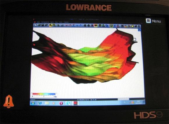 Векторная 3Д карта поданная на монитор HDS-9 через видео вход