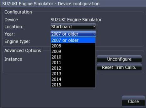 Выберите место положения двигателя, год изготовления двигателя, тип или модель двигателя